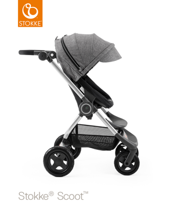 STOKKE® SCOOT BAZA BLACK  / BUDKA BLACK MELANGE 2017 EDITION