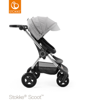 STOKKE® SCOOT BAZA BLACK  / BUDKA GREY MELANGE 2017 EDITION