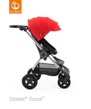 STOKKE® SCOOT BAZA BLACK  / BUDKA RED 2017 EDITION