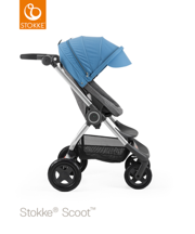 STOKKE® SCOOT BAZA BLACK MELANGE / BUDKA BLUE 2017 EDITION