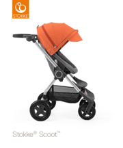 STOKKE® SCOOT BAZA BLACK MELANGE / BUDKA ORANGE 2017 EDITION